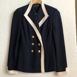 ST JOHN Santana Knit Blazer Navy